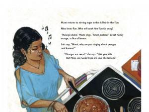 Mama making Flan