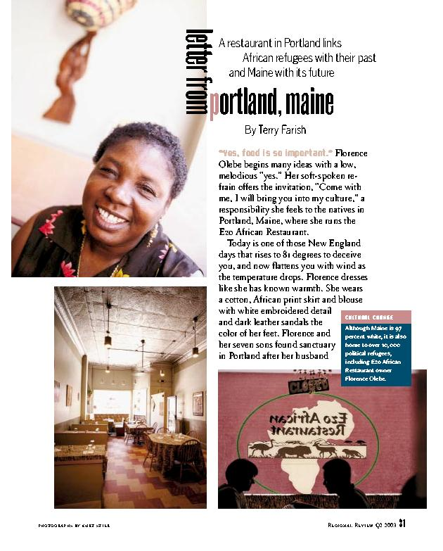 Ezo African Restaurant: A Letter from Portland, Maine